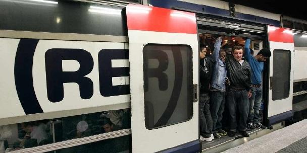 Les joies du RER A aux jours et heures de forte affluence